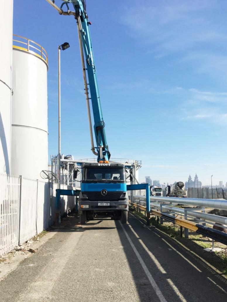 24 metre, plant works, Stott Concrete Pumping