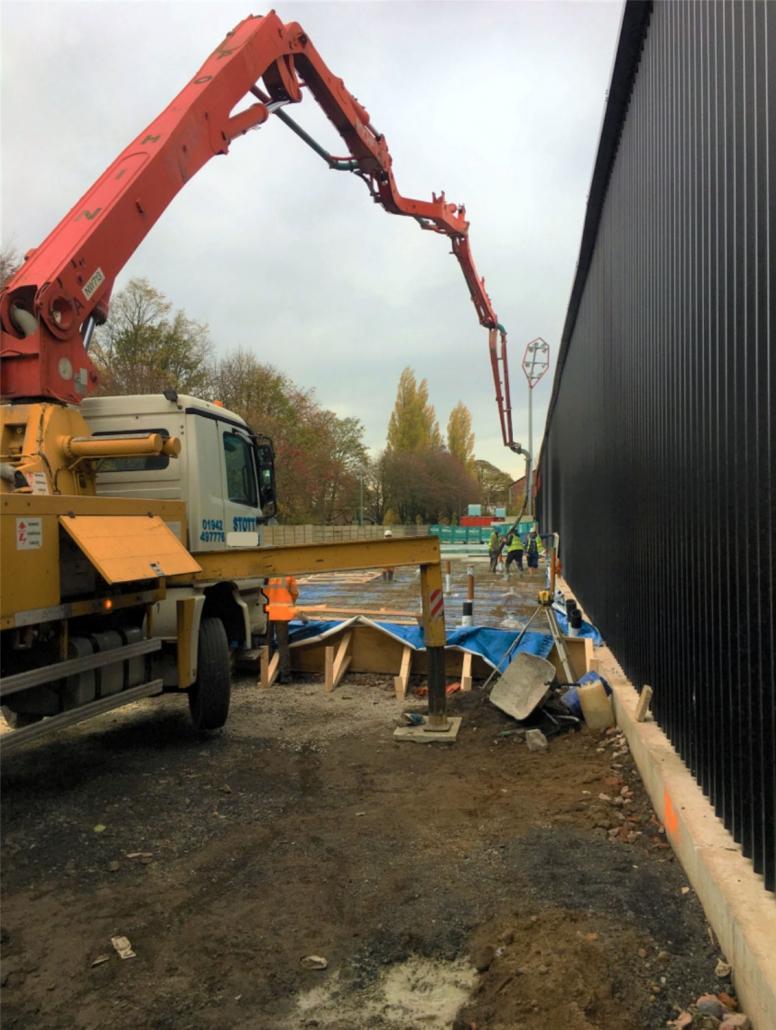 16 metre pump, Stott Concrete Pumping