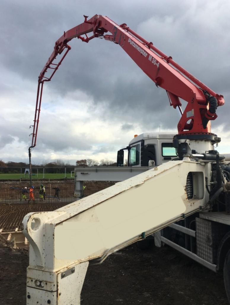 36 metre pump, Stott Concrete Pumping