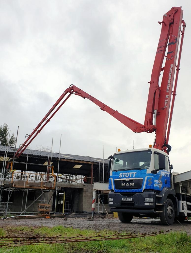 2020 Mobile Pump in action, Stott Concrete Pumping