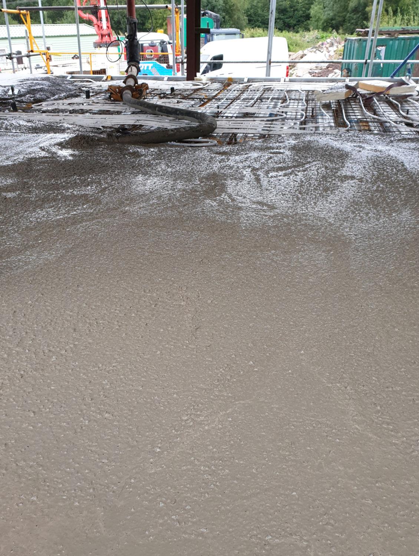 2020 mobile pump, under floor heating, Stott Concrete Pumping