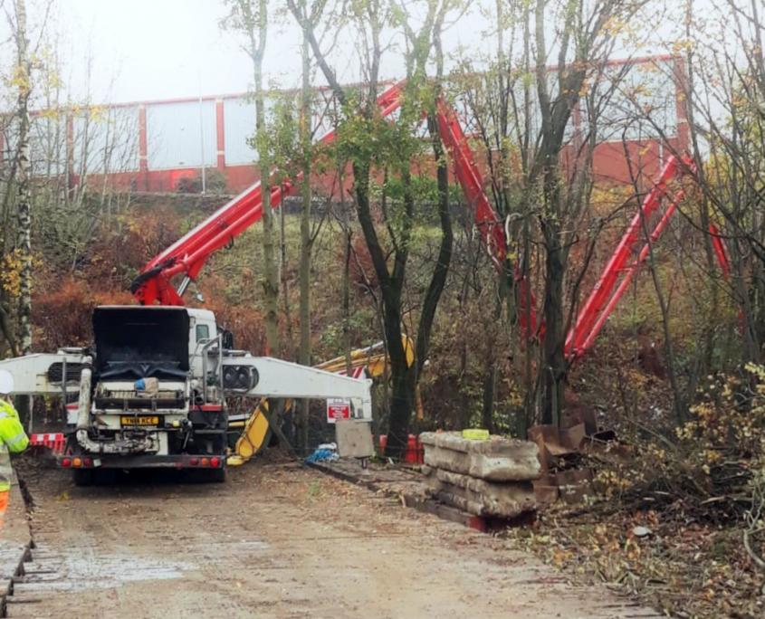 36 metre, boom pump hire, Stott Concrete Pumping, Wigan, NW, 2021